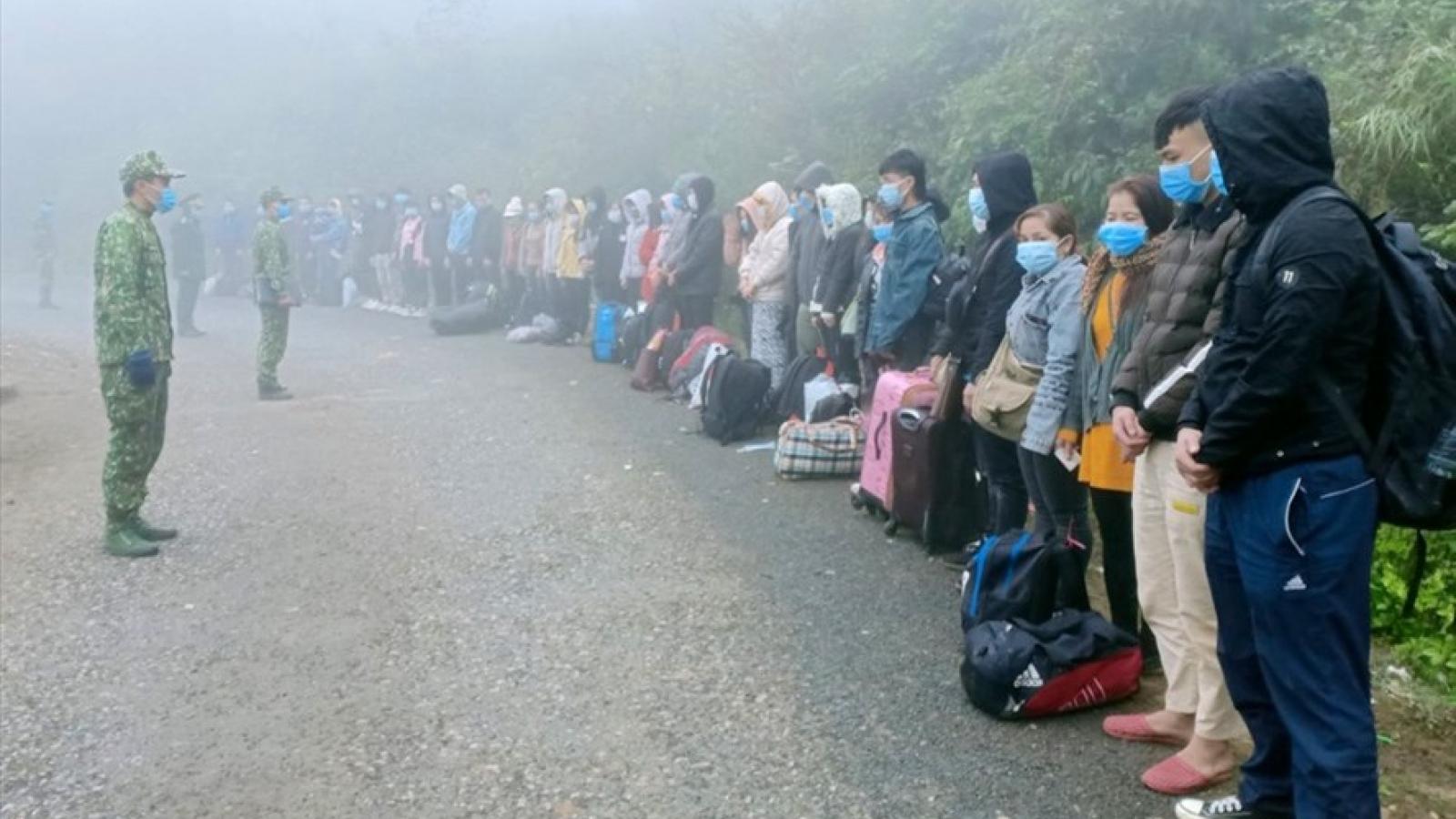 Hà Giang phát hiện, bắt giữ và cách ly 117 công dân nhập cảnh trái phép