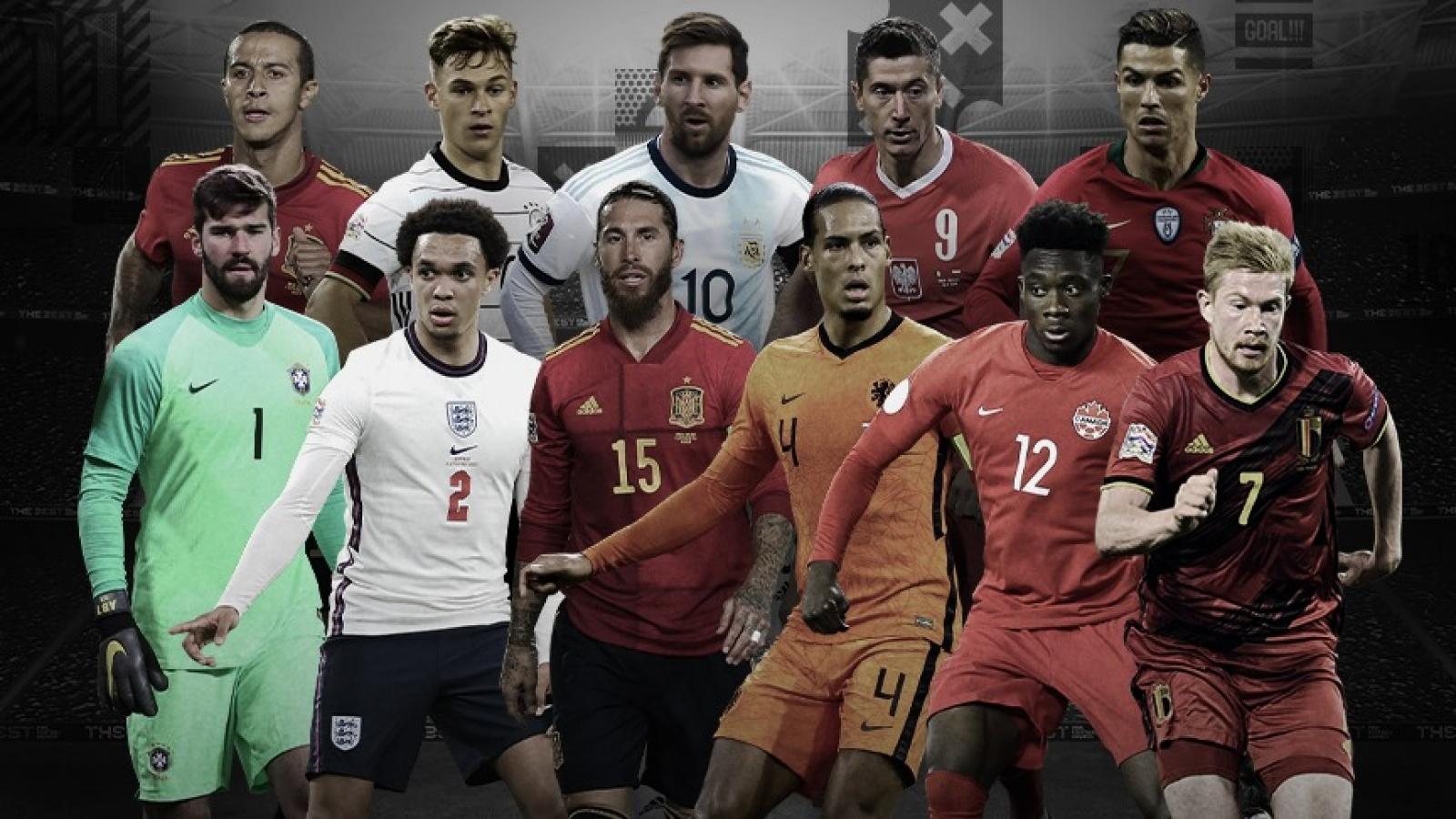 """Ronaldo, Messi """"sát cánh"""" cùng Lewandowski ở đội hình tiêu biểu thế giới năm 2020"""