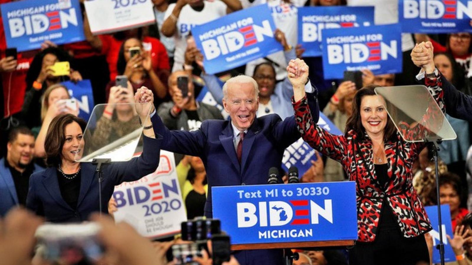 Tỷ lệ ủng hộ ông Biden cao hơn mức kỷ lục của ông Trump