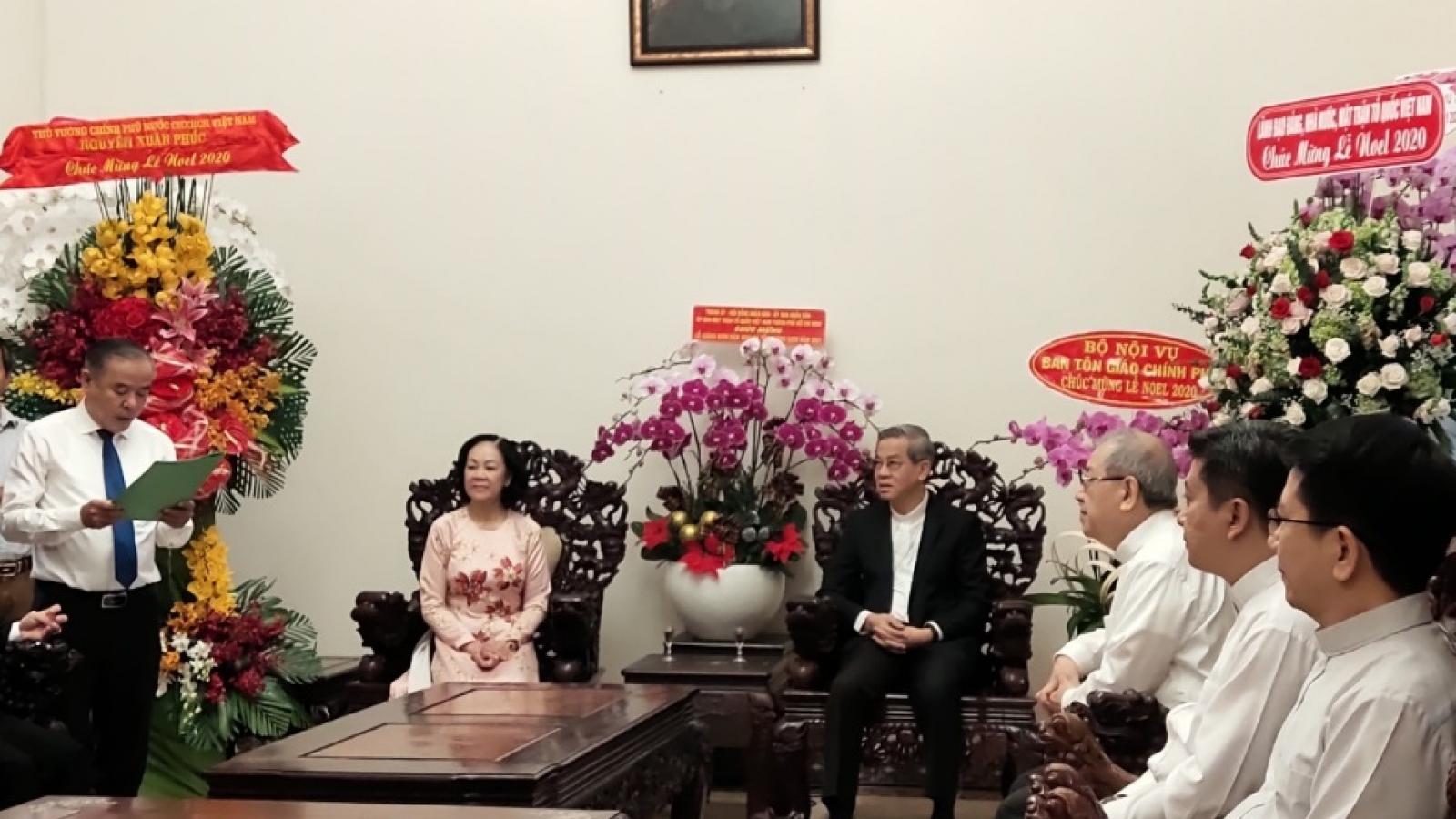 Trưởng ban Dân vận Trung ương chúc mừng Lễ Giáng sinh tại TPHCM, Đồng Nai