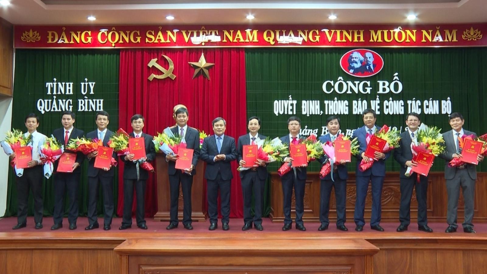 Điều động, bổ nhiệm các Giám đốc Sở, ngành tại Quảng Bình