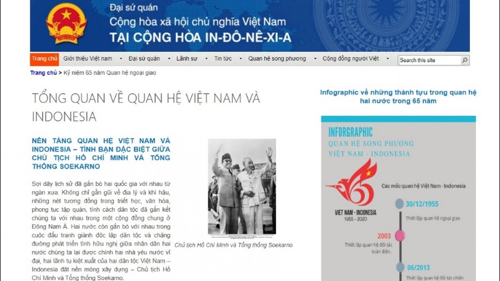 Khai trương trang chuyên đề về các hoạt động kỷ niệm 65 năm quan hệ Việt Nam - Indonesia