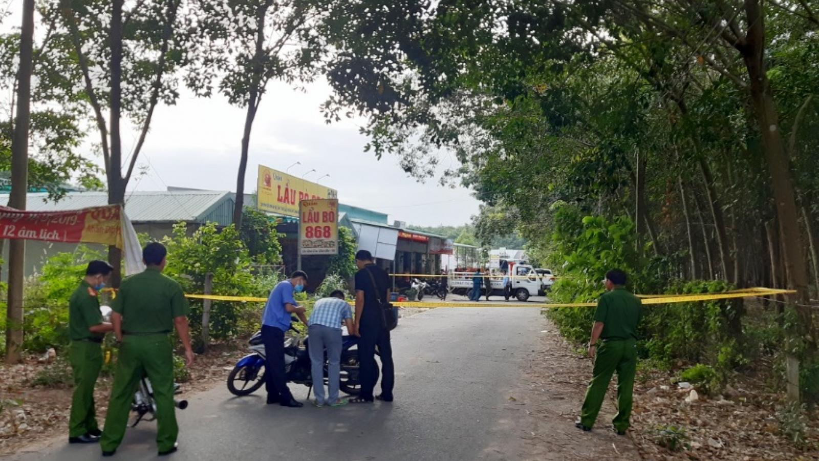 Án mạng tại quán nhậu ở Bình Dương, 3 người chết, 2 người bị thương
