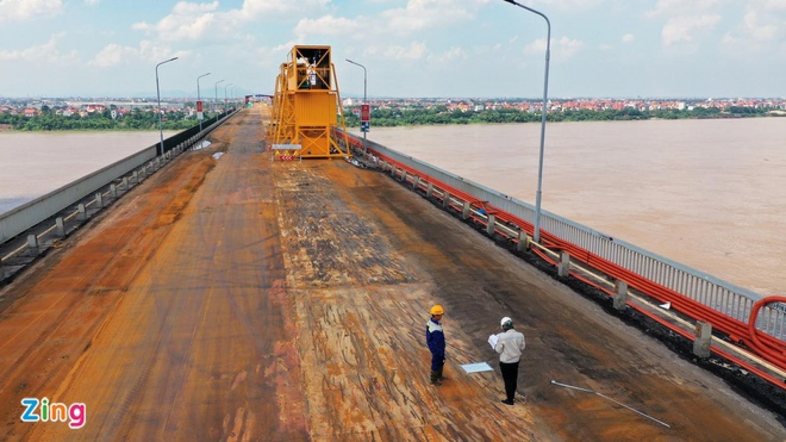 Sắp hoàn thành sửa mặt cầu Thăng Long, đảm bảo tuổi thọ lên tới 30 năm