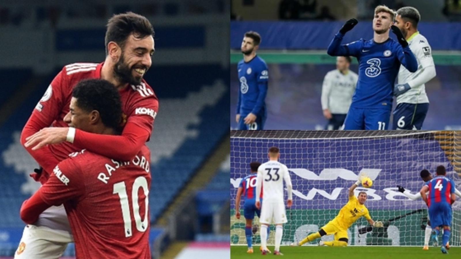 Chelsea và Leicester sảy chân, MU chưa đá đã hưởng lợi