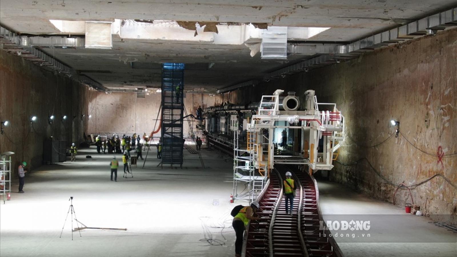 Đảm bảo an toàn công trình trên mặt đất khi robot đào hầm tuyến đường sắt Nhổn-ga Hà Nội