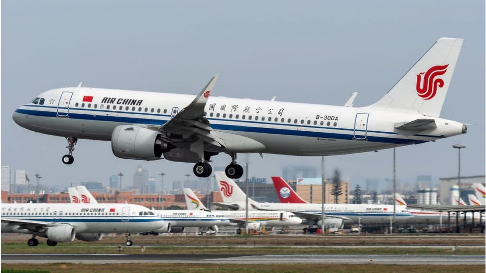 Trung Quốc tạmdừngtất cả các chuyến bay hai chiềuđếnAnh