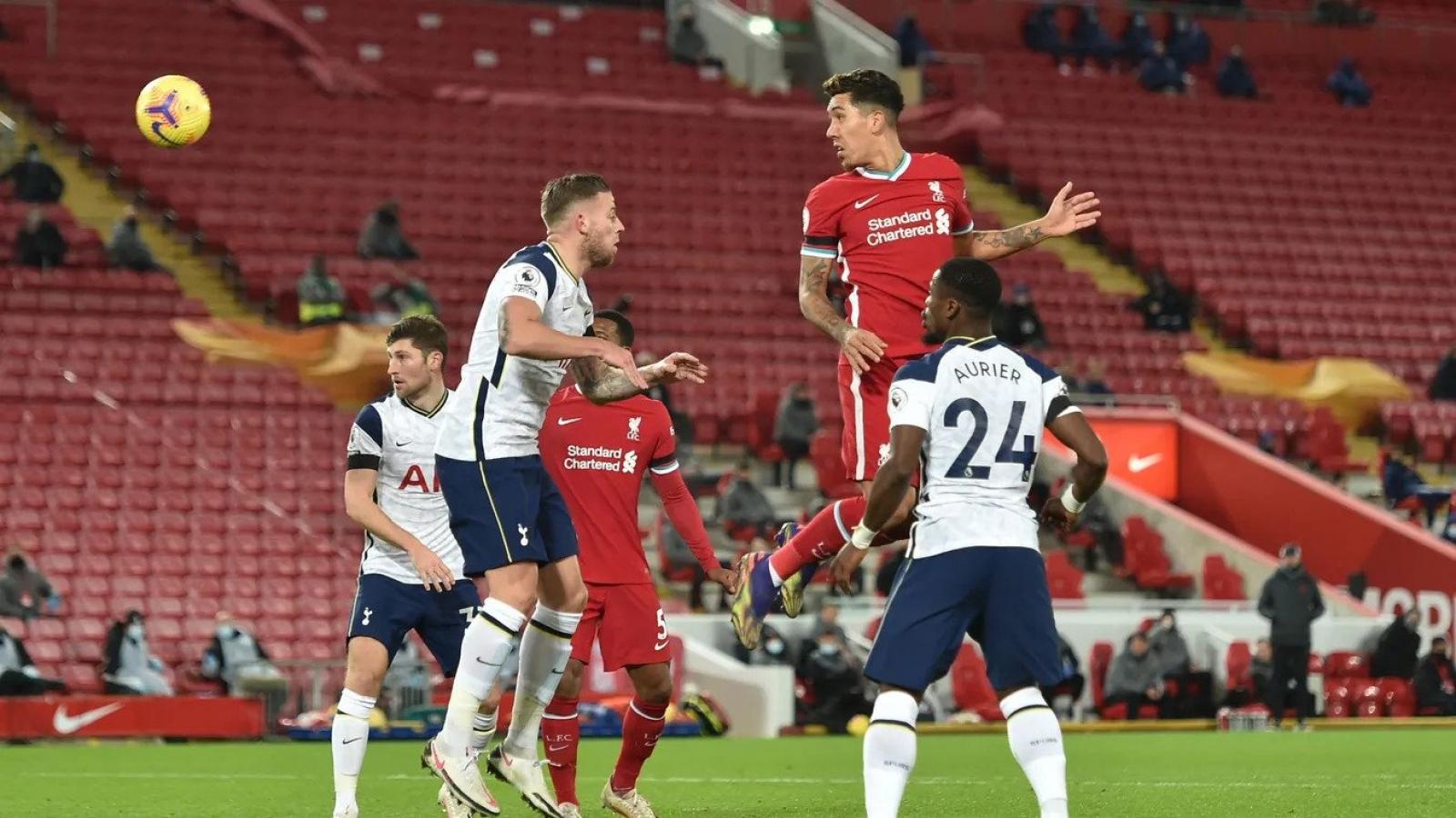 Ghi bàn phút cuối, Người hùng Firmino giúp Liverpool thắng kịch tính Tottenham