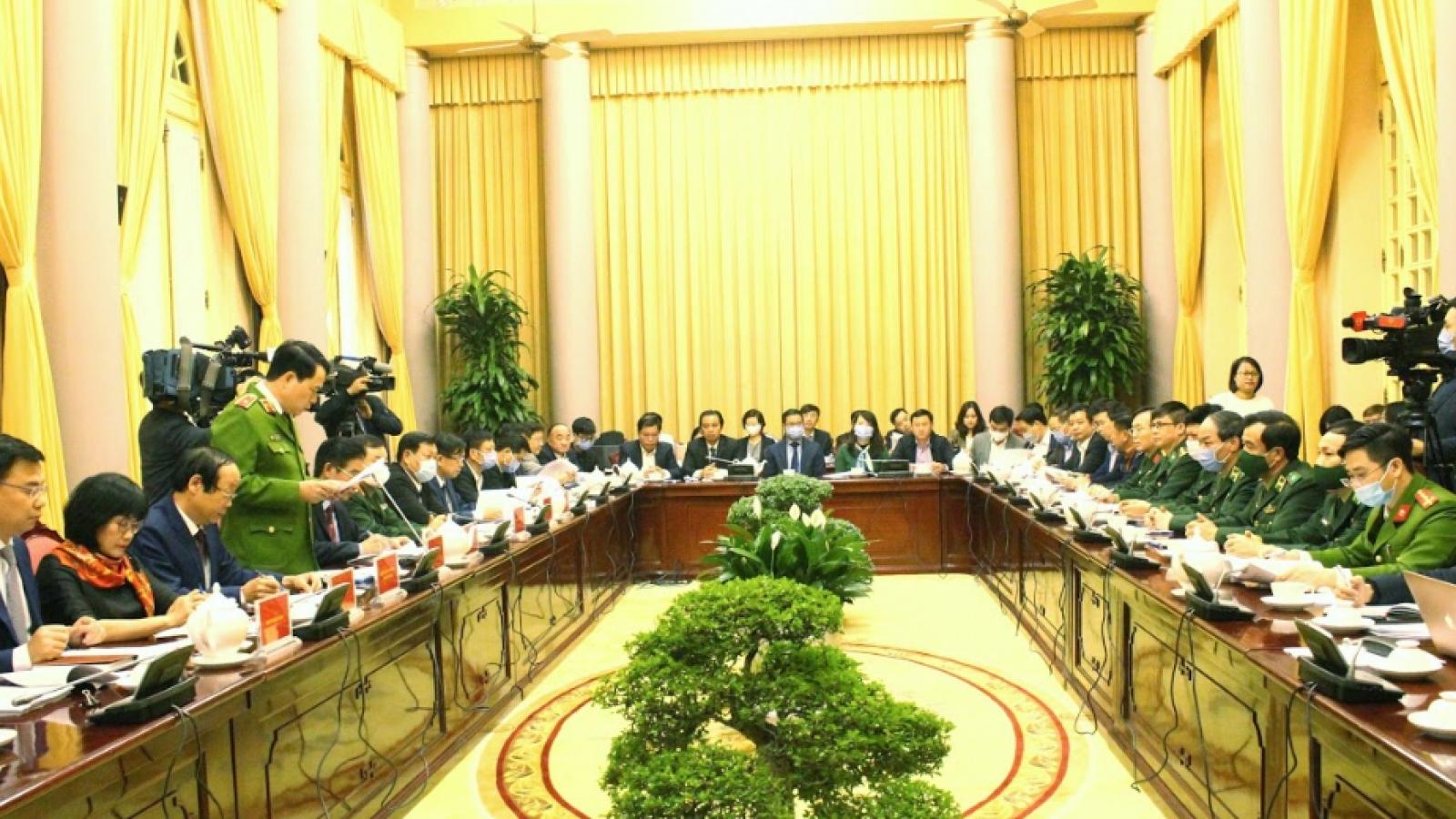 Họp báo công bố Lệnh của Chủ tịch nước ban hành 7 luật