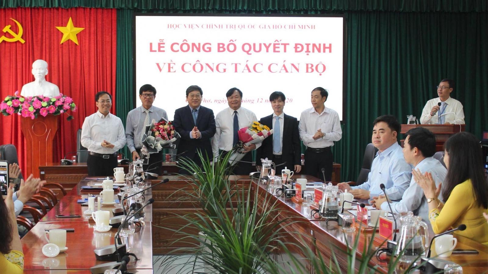 Bổ nhiệm Giám đốc Học viện Chính trị khu vực II và khu vực IV