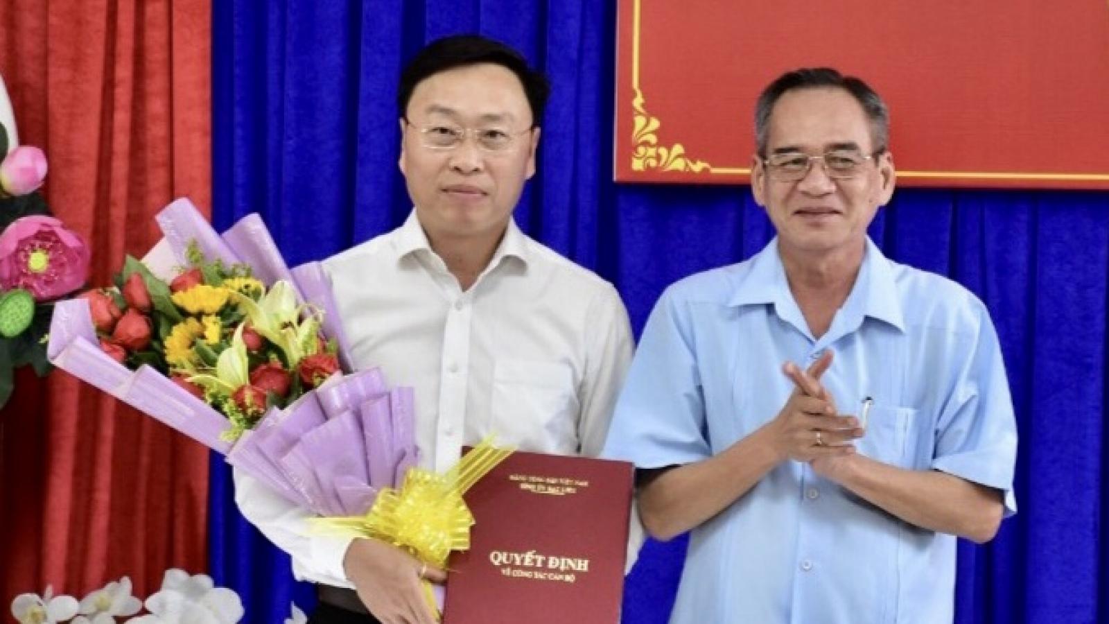 Ông  Huỳnh Hữu Trí được luân chuyển, chỉ định giữ chức Bí thư Thành ủy Bạc Liêu