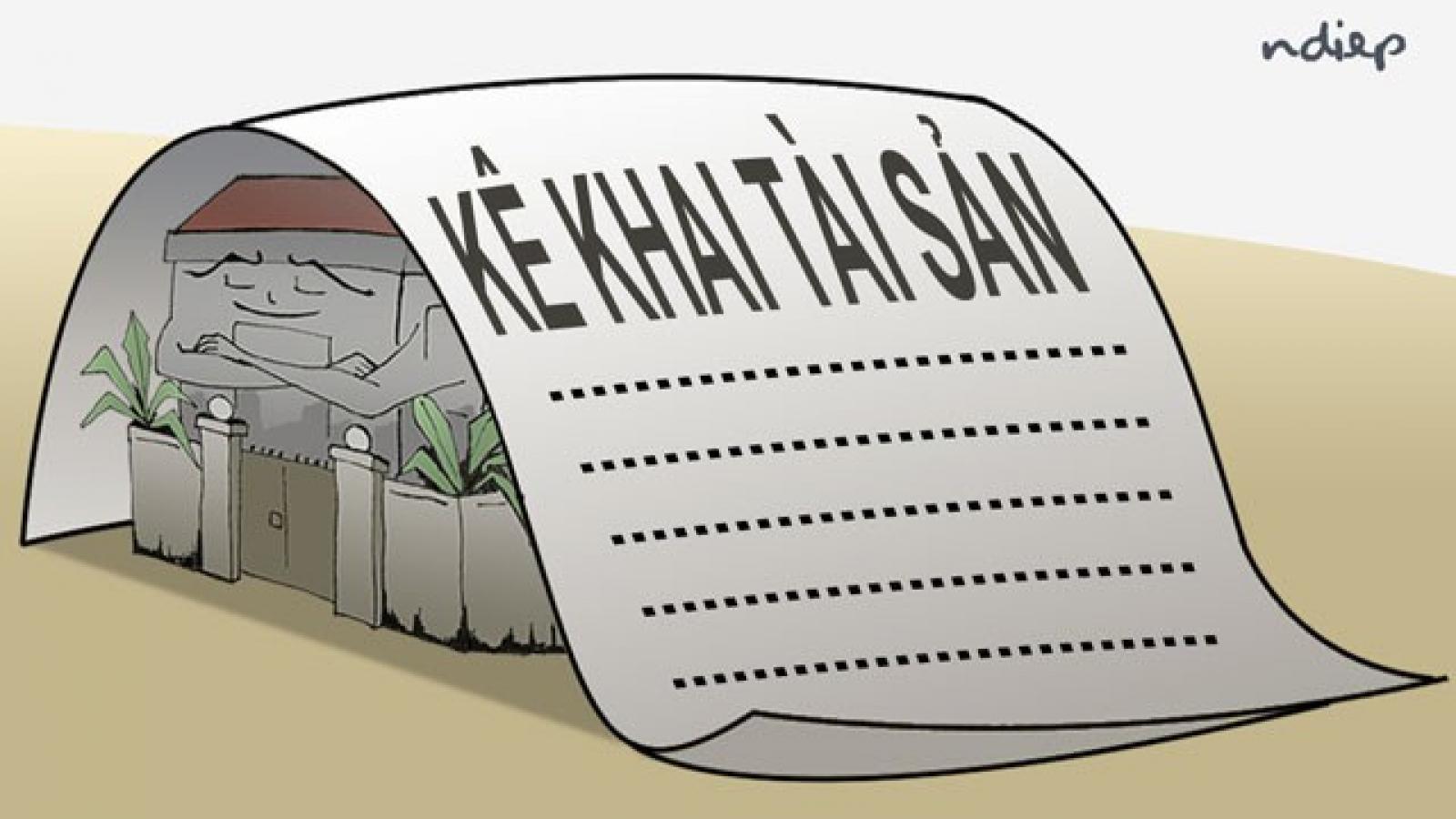Người có nghĩa vụ kê khai che dấu tài sản có thể bị cách chức