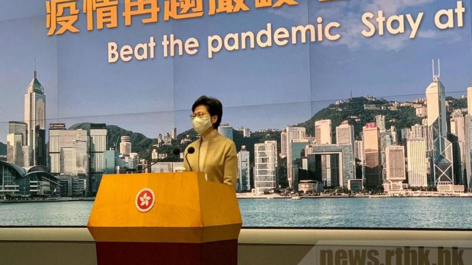 Hong Kong (Trung Quốc) có thể cho phép phong tỏa cục bộ chống Covid-19