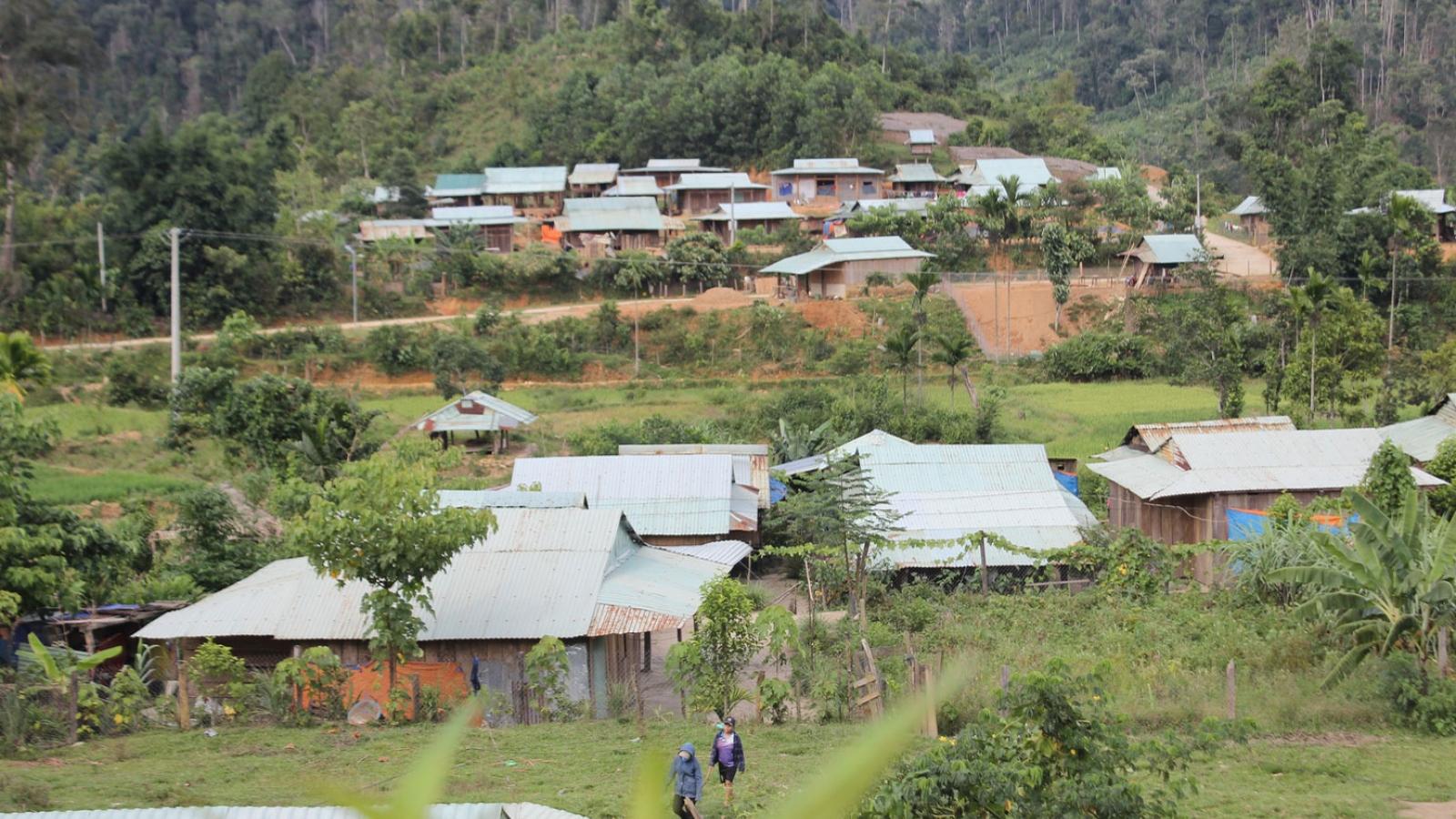 Ưu tiên sắp xếp lại dân cư vùng lở núi ở Quảng Nam