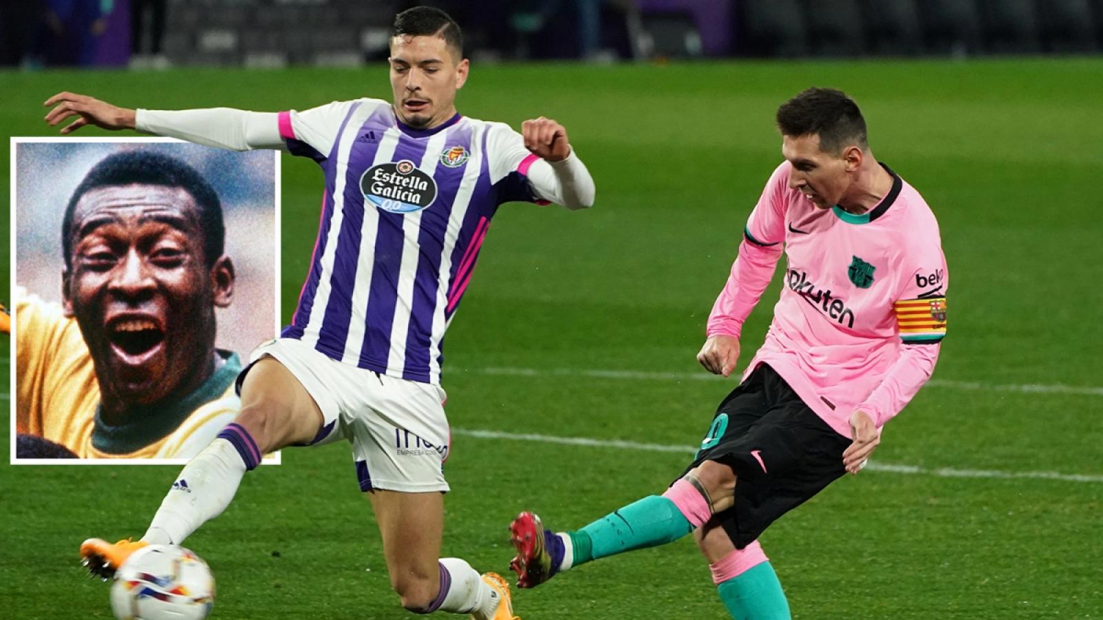 """Lionel Messi phá kỷ lục của """"Vua bóng đá"""" Pele"""