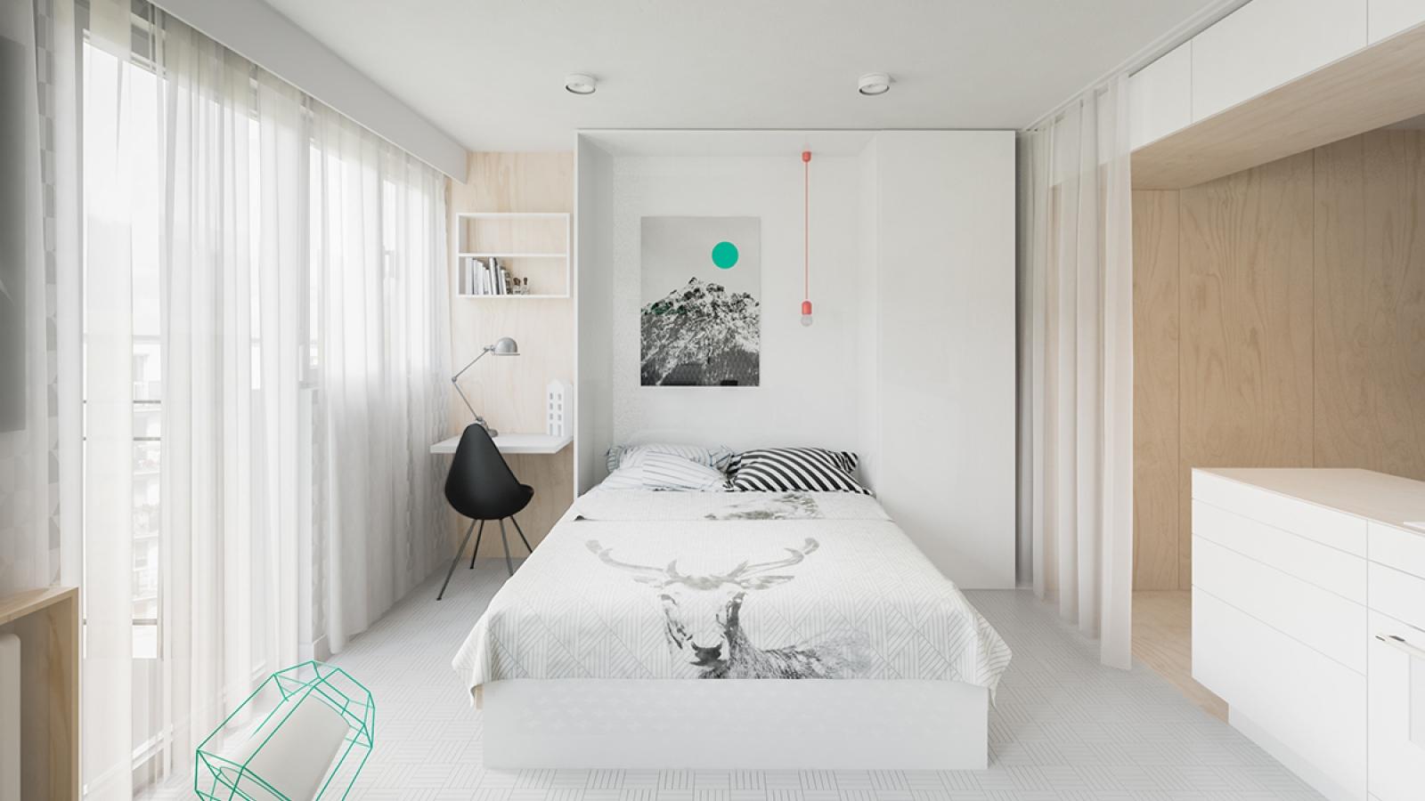 Cách bố trí căn hộ dưới 50m2 thông minh và tinh tế