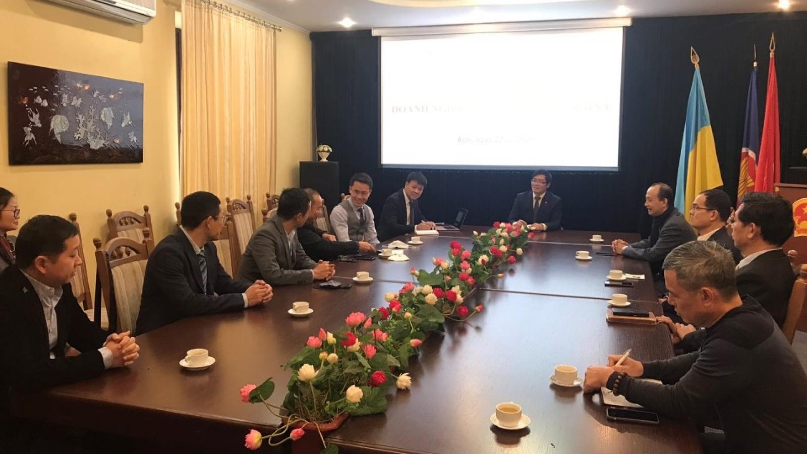 Gặp gỡ doanh nghiệp Việt Nam tại Ucraina
