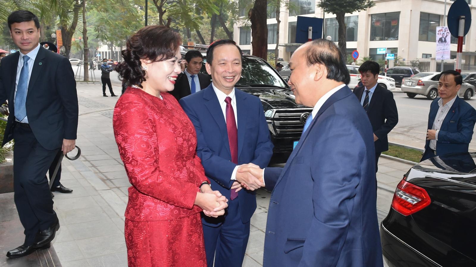 Thủ tướng Nguyễn Xuân Phúc dự tổng kết ngành Ngân hàng