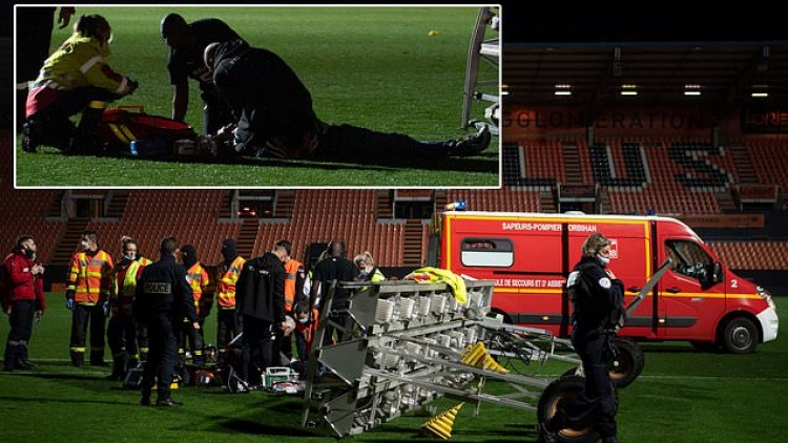 Nhân viên CLB Pháp tử vong sau tai nạn hy hữu trên sân bóng