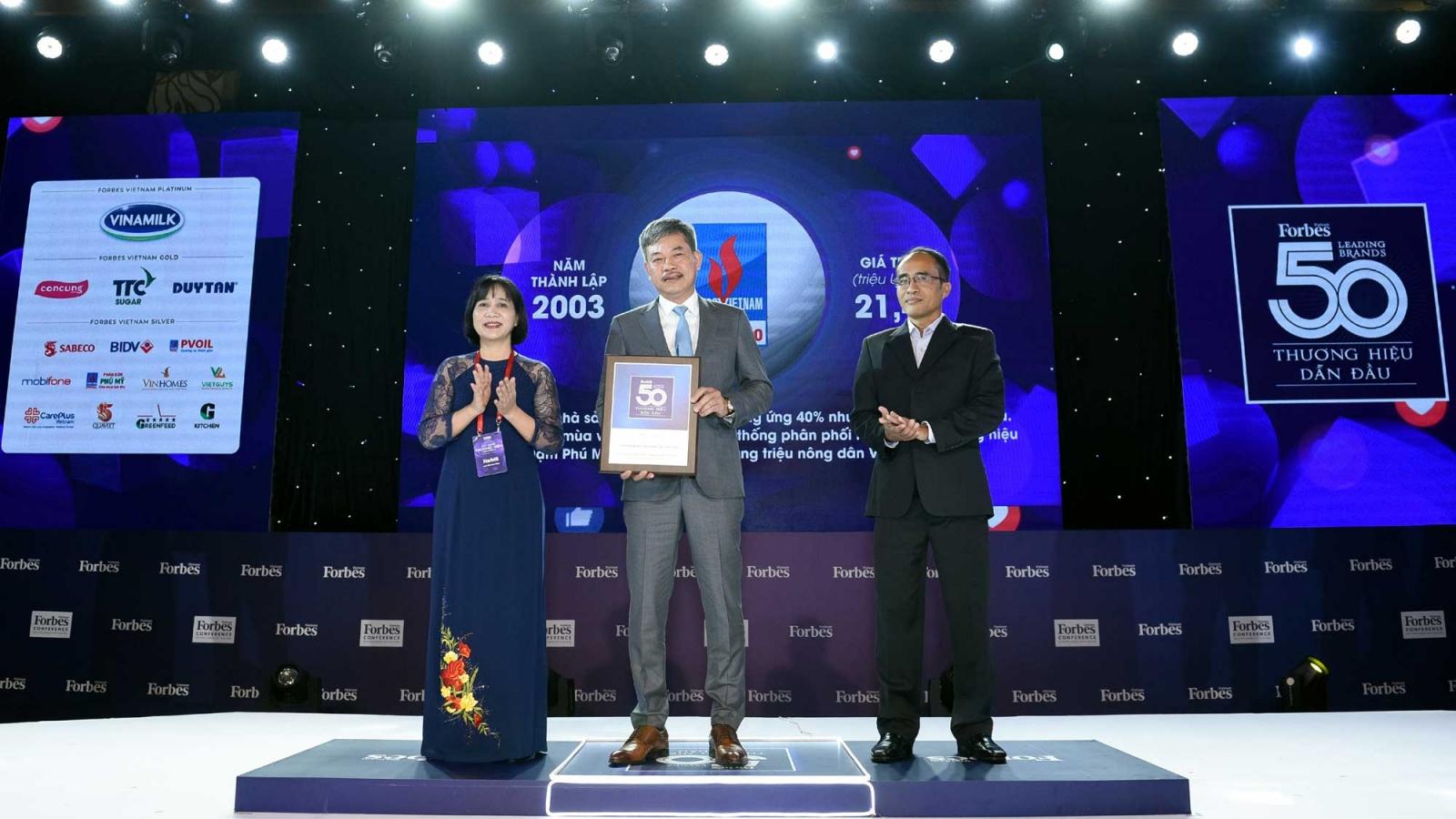 PVFCCo tiếp tục nằm trong Top 50 thương hiệu dẫn đầu Việt Nam