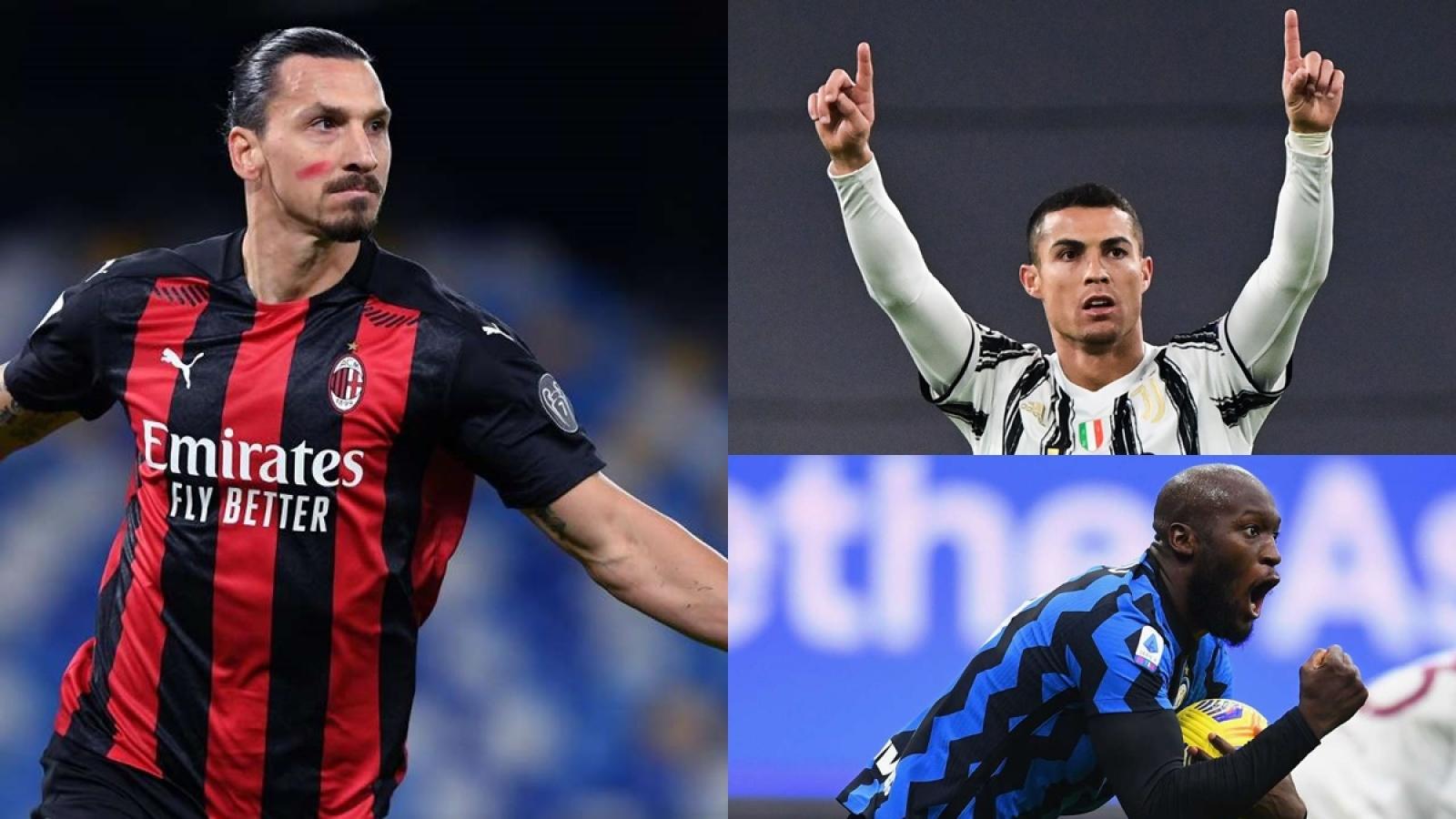 """Cuộc đua """"Vua phá lưới"""" Serie A: Ronaldo bứt phá mạnh mẽ"""