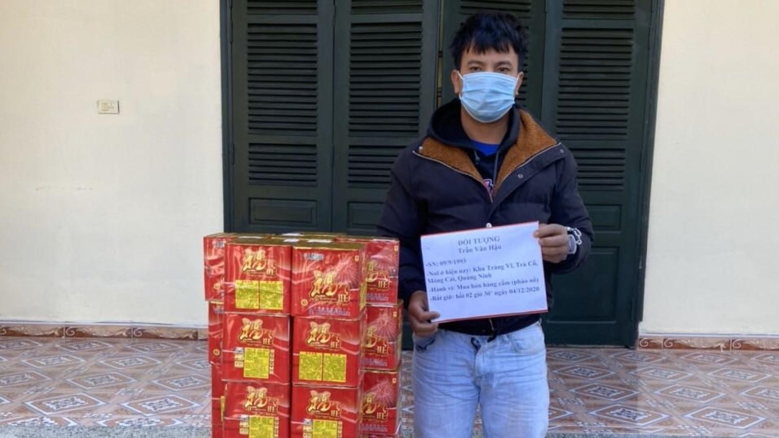 Quảng Ninh bắtđối tượng vận chuyển hơn 50kg pháo nổ