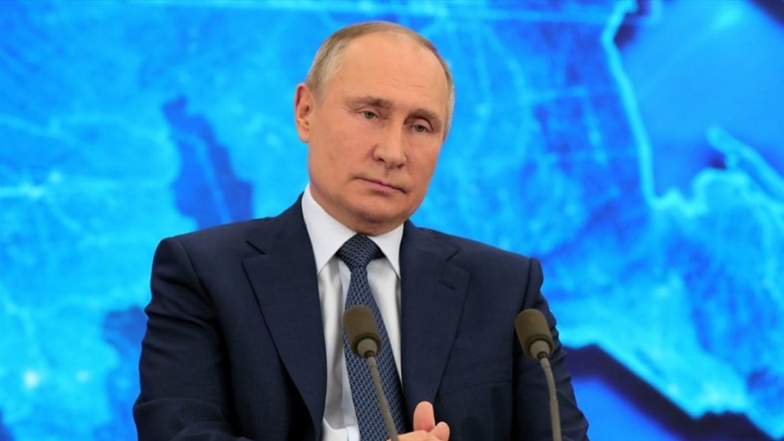 Những vấn đề nổi bật trong cuộc họp báo của Tổng thống Nga Putin