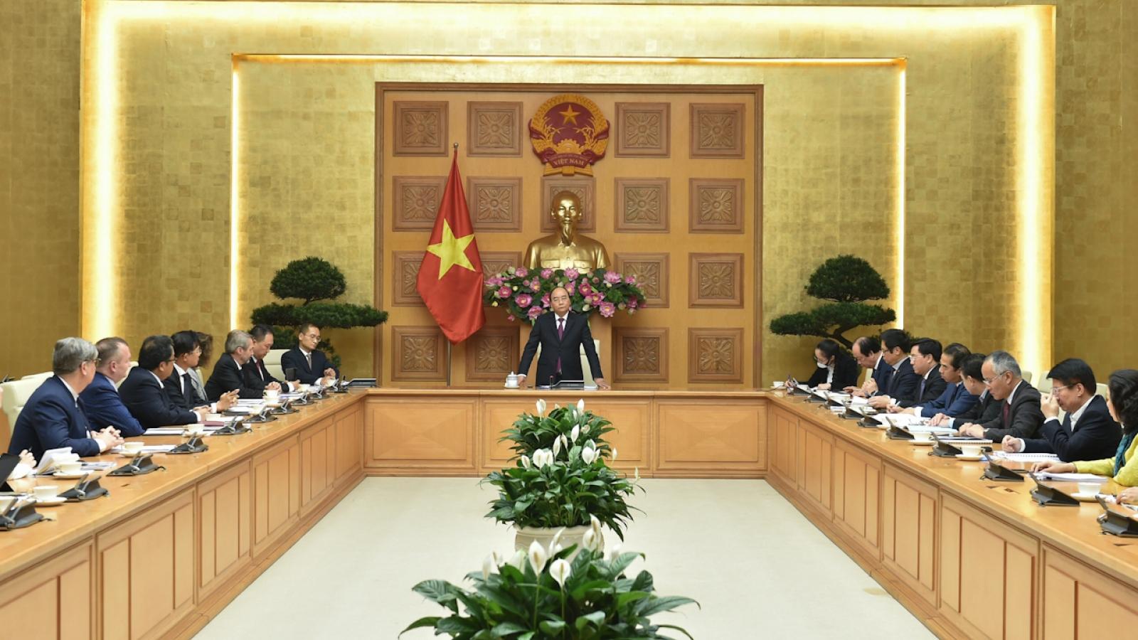 Thủ tướng gặp gỡ đại diện các hiệp hội doanh nghiệp thuộc VBF