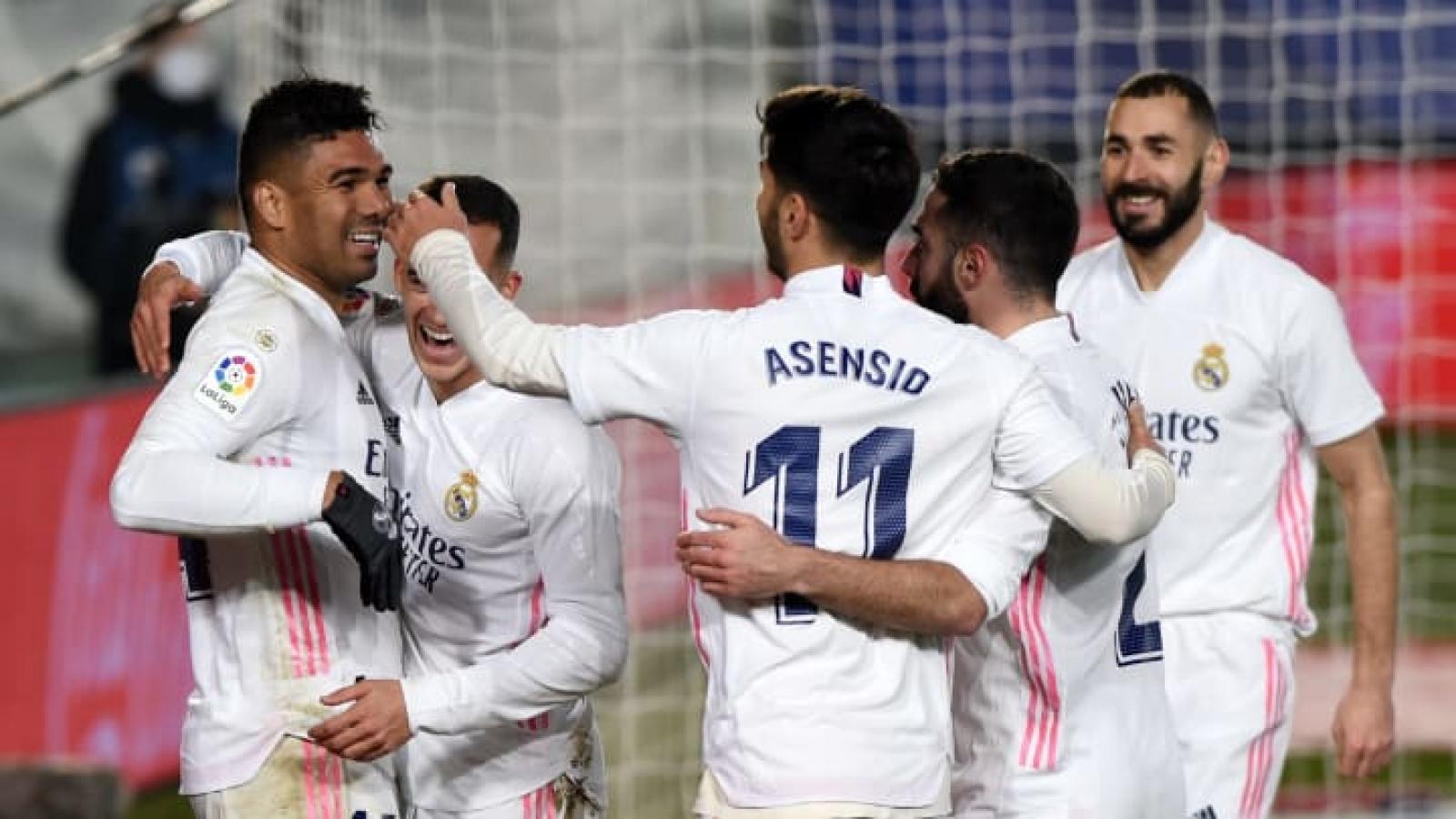 Thắng trận thứ 6 liên tiếp, Real Madrid áp sát ngôi đầu La Liga