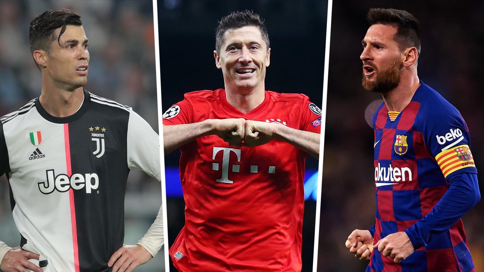 Ronaldo, Messi tranh giải The Best với Lewandowski