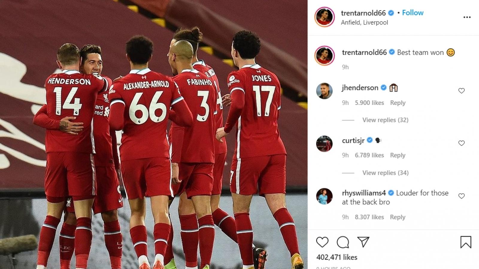 """""""Sao"""" Liverpool """"đá xoáy"""" Jose Mourinho trên mạng xã hội"""