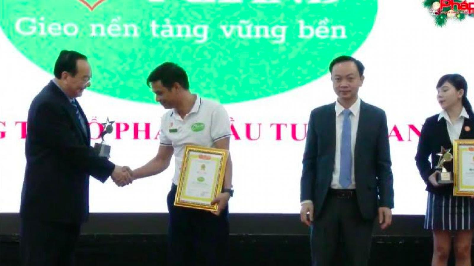 Doanh nhân Mai Văn An và An Land vinh dự nhận giải thưởng danh giá
