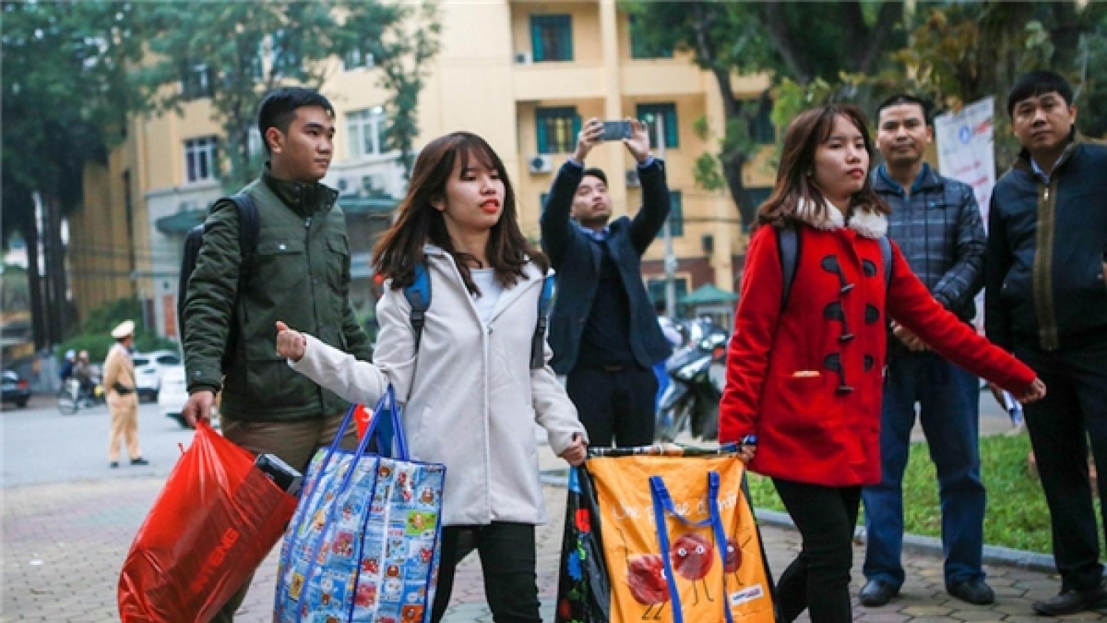 Nhiều sinh viên đại học được nghỉ Tết Nguyên đán gần 1 tháng
