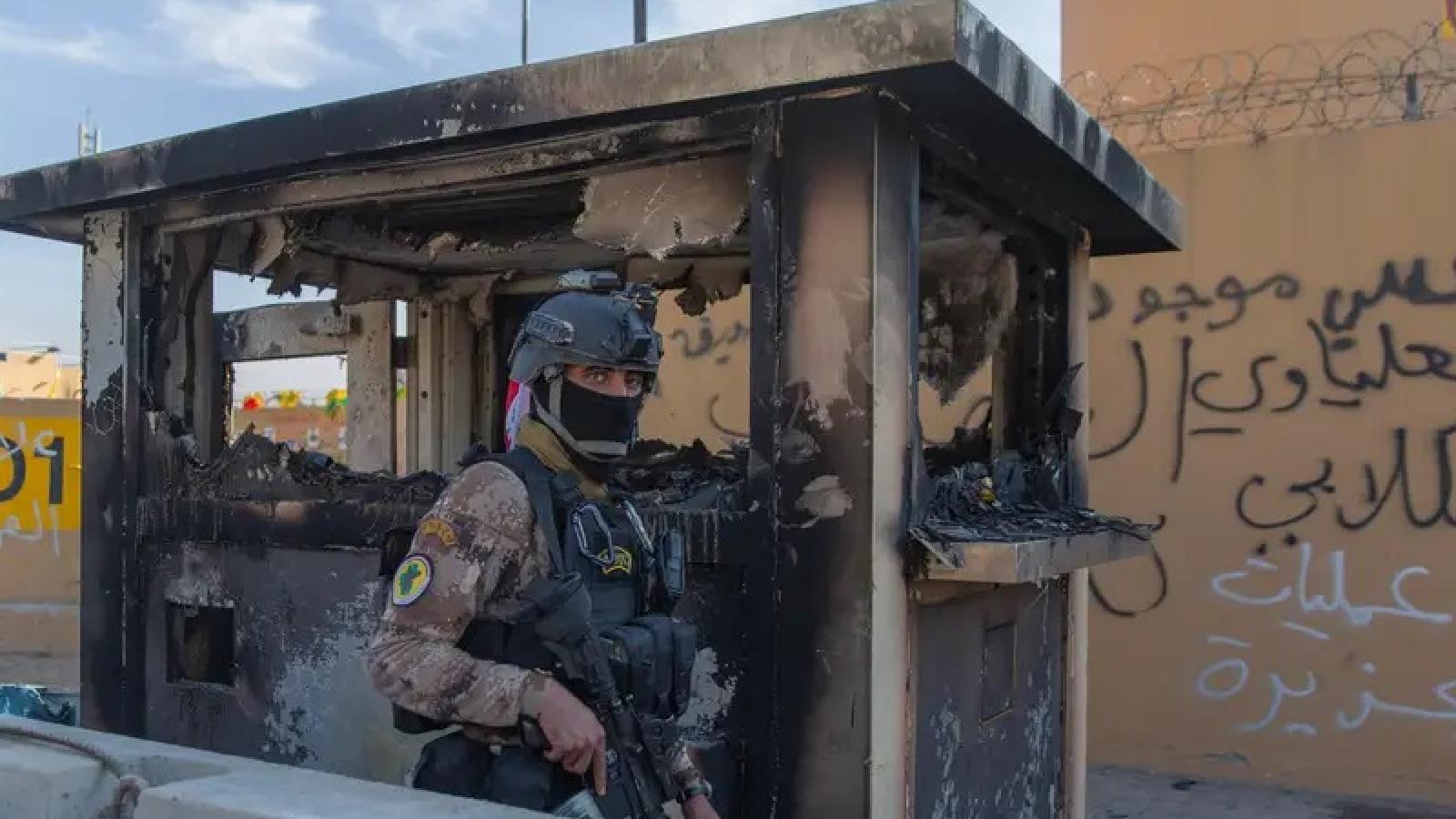 Iraq bắt các nghi phạm và quan chức an ninh liên quan vụ ĐSQ Mỹ bị phóng rocket
