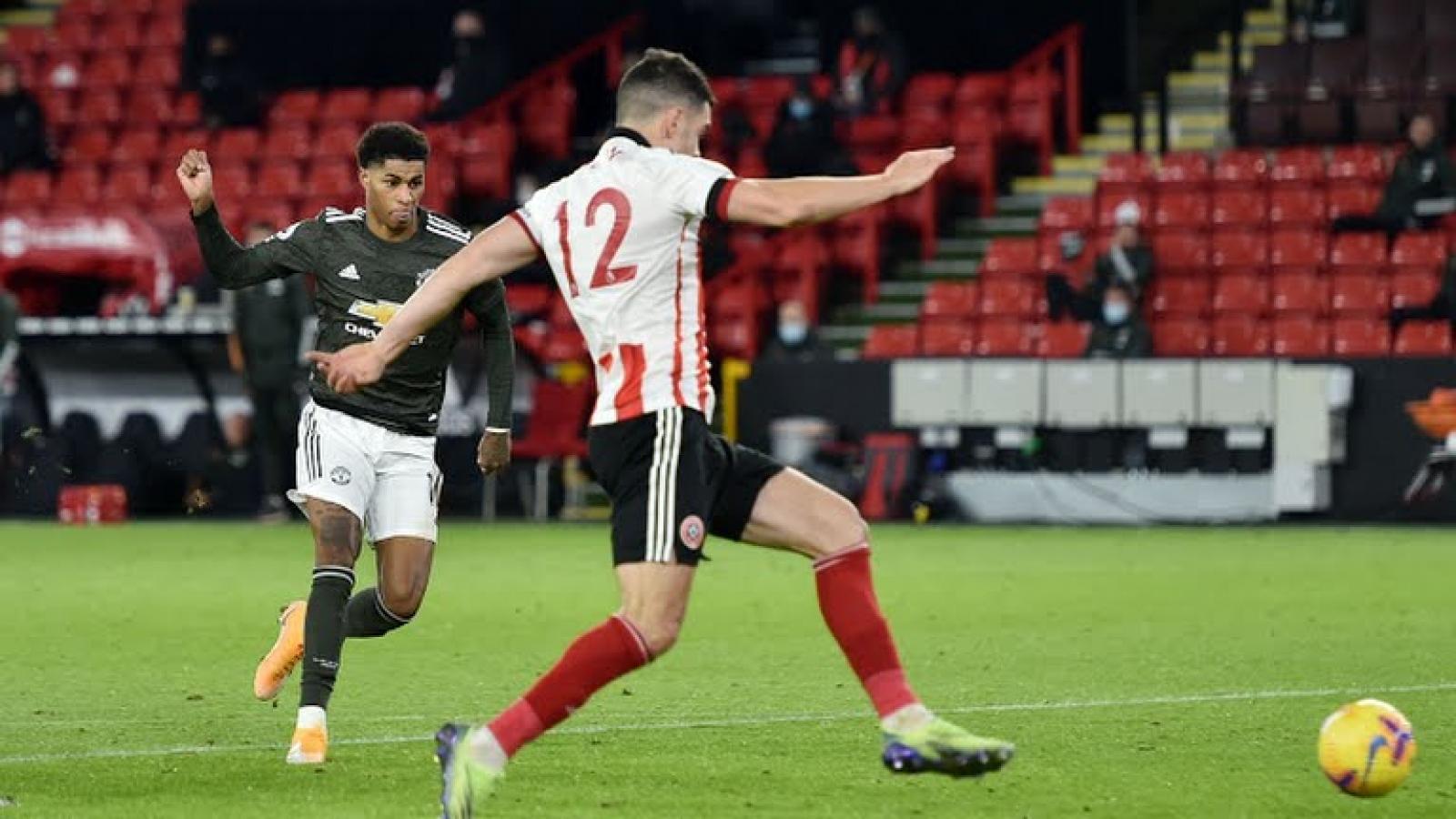 Rashford lập cú đúp, MU ngược dòng ấn tượng trước Sheffield Utd