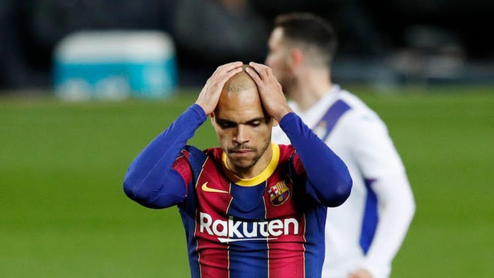 Messi vắng mặt, Barca nhọc nhằn giành 1 điểm trước Eibar