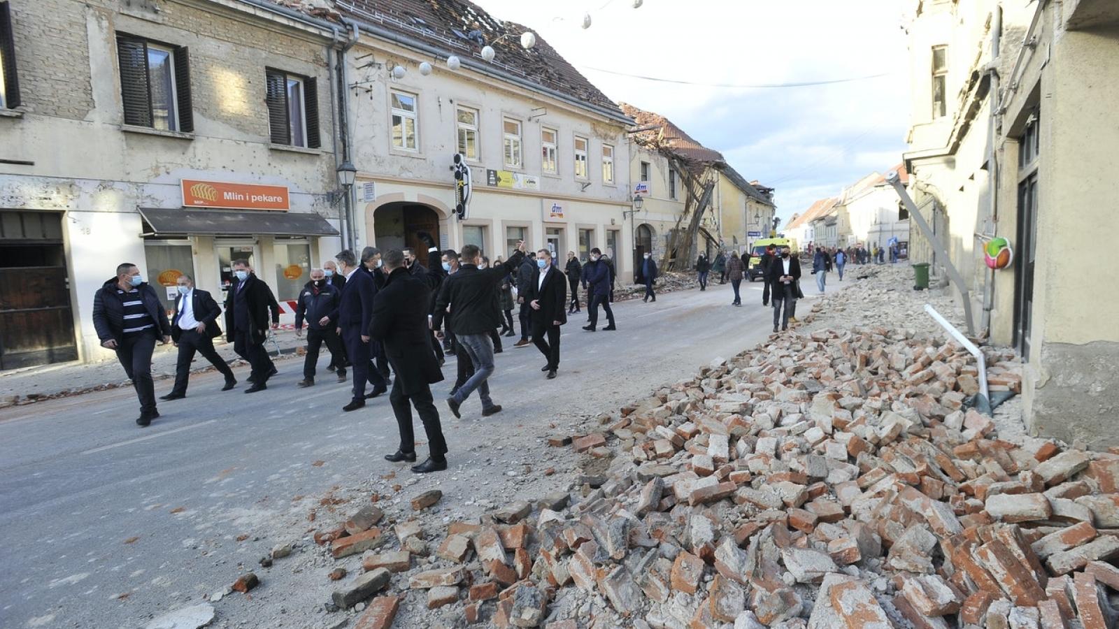 Croatia: Động đất khiến ít nhất 7 người thiệt mạng và hàng chục người khác bị thương