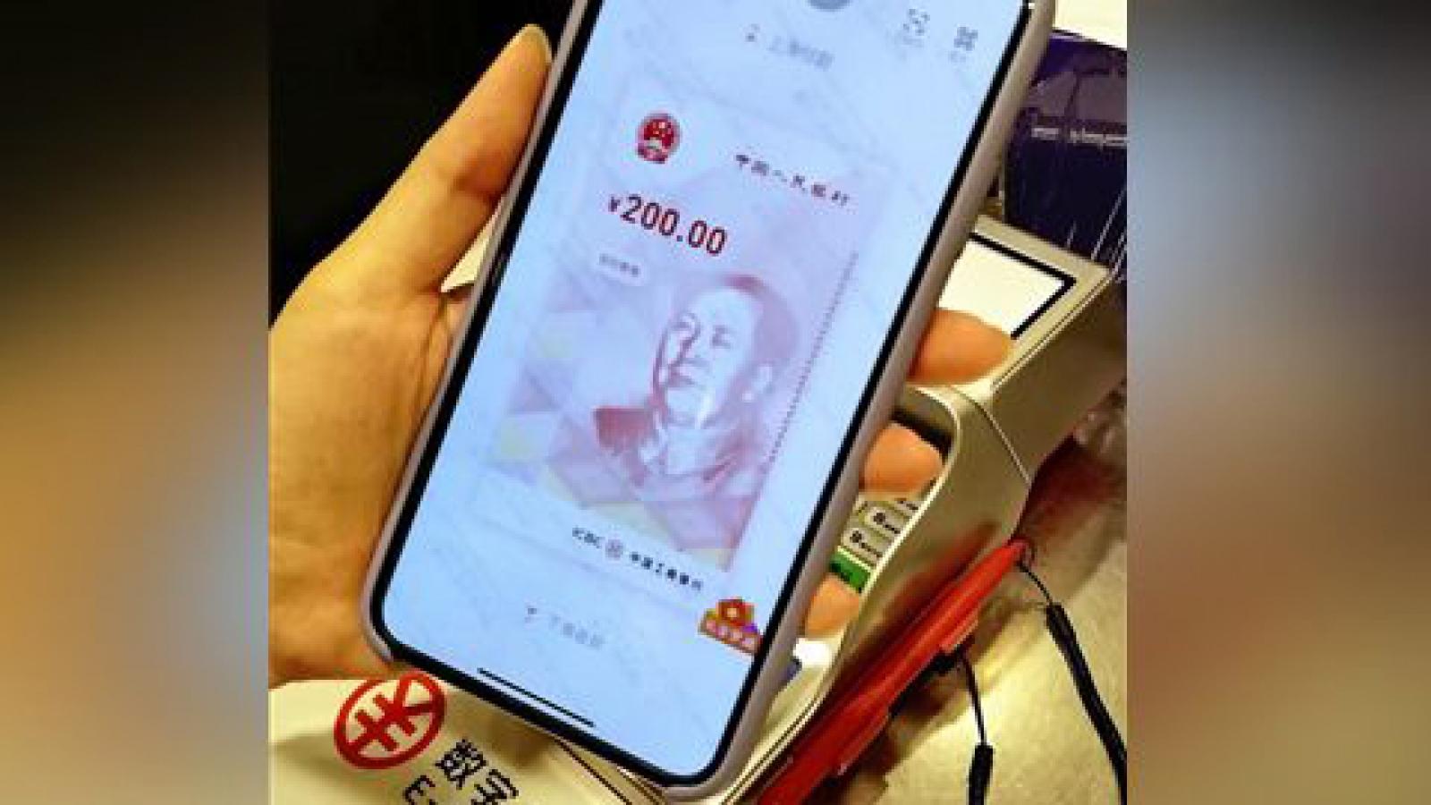 Trung Quốc phát miễn phí 20 triệu nhân dân tệ tiền điện tử
