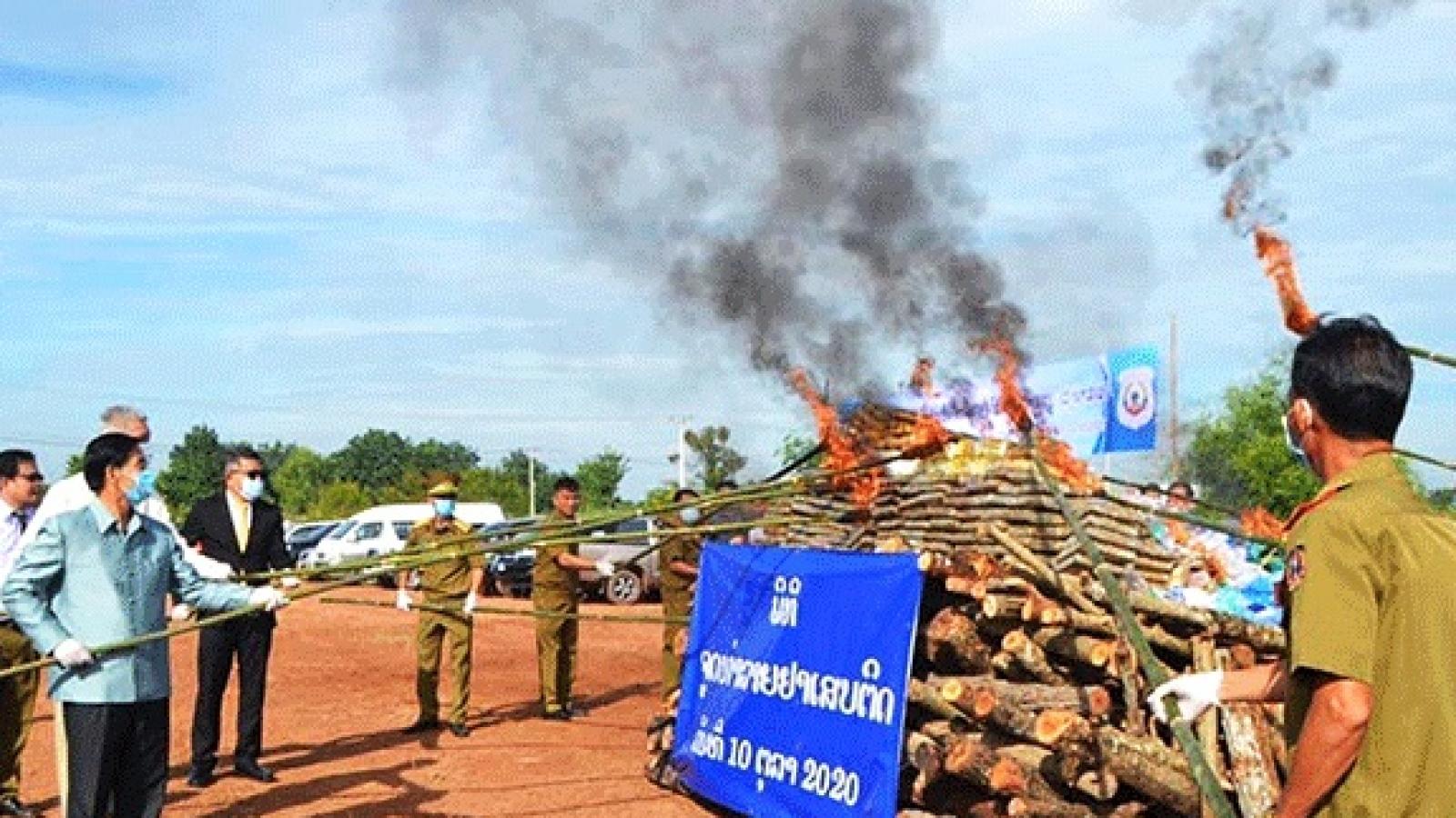 Hơn một nửa số vụ phạm tội ở Lào liên quan đến ma túy