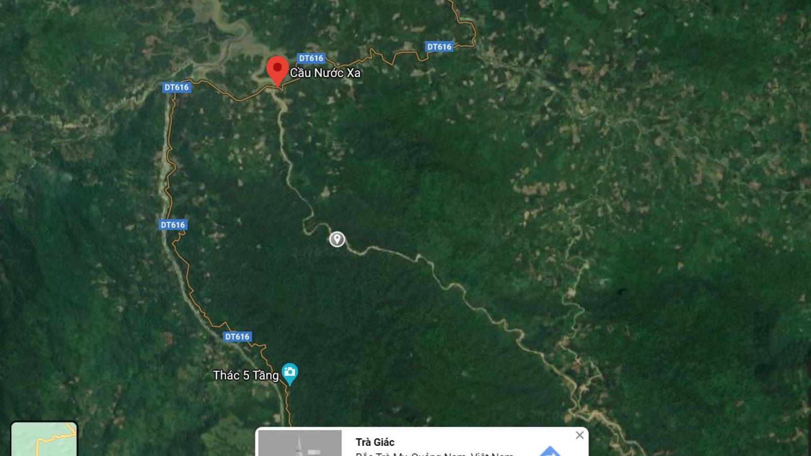 Phát hiện bộ xương người trên sông Nước Xa đoạn giáp huyện Nam Trà My
