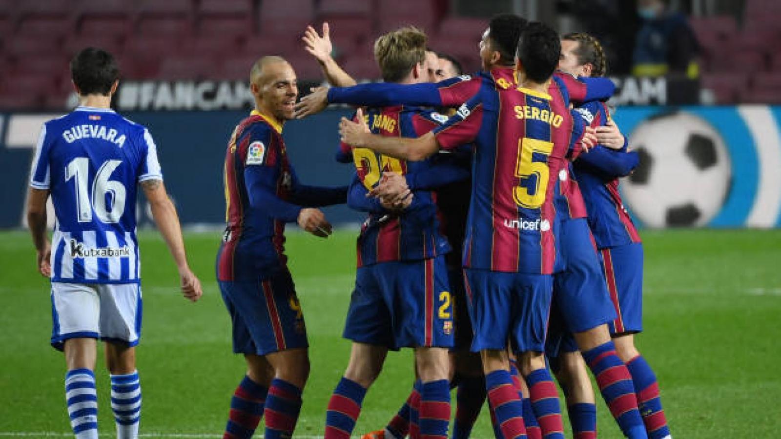 Messi ghi dấu ấn, Barca ngược dòng hạ đội đầu bảng La Liga