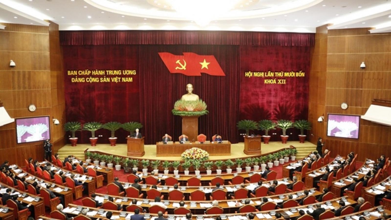 Ngày làm việc thứ nhất của Hội nghị lần thứ 14 Ban Chấp hành Trung ương Đảng khoá XII