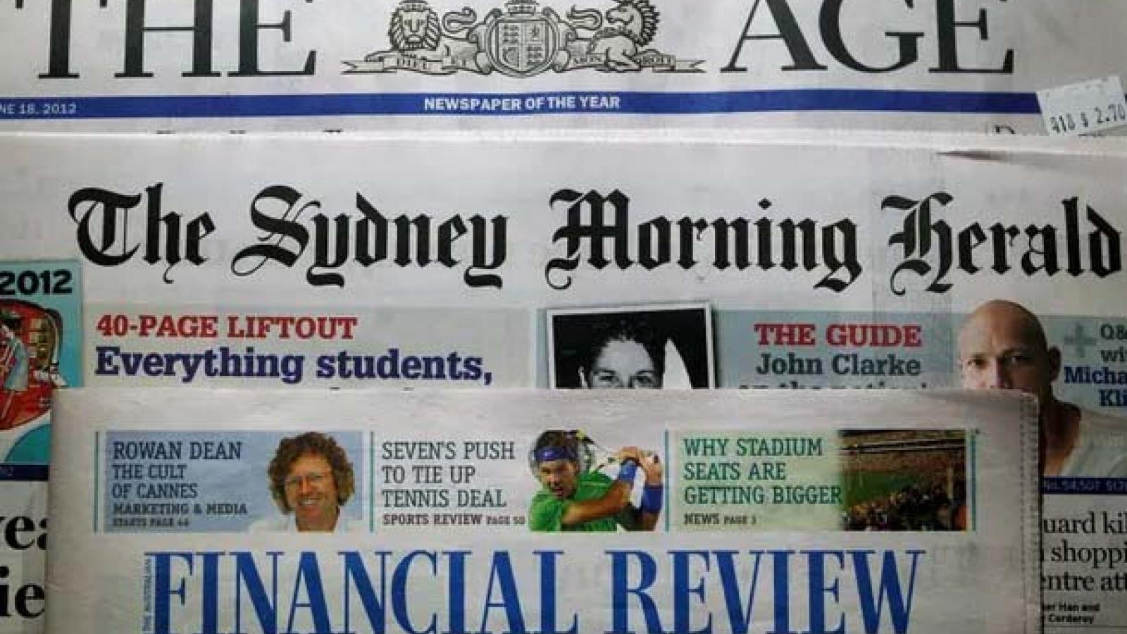 Báo Australia ngừng in nội dung do báo Trung Quốc cung cấp