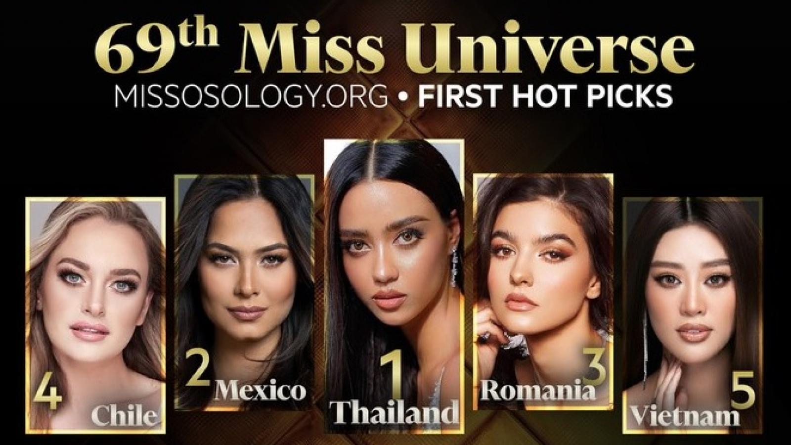 Khánh Vân được dự đoán lọt top 5 Miss Universe 2021