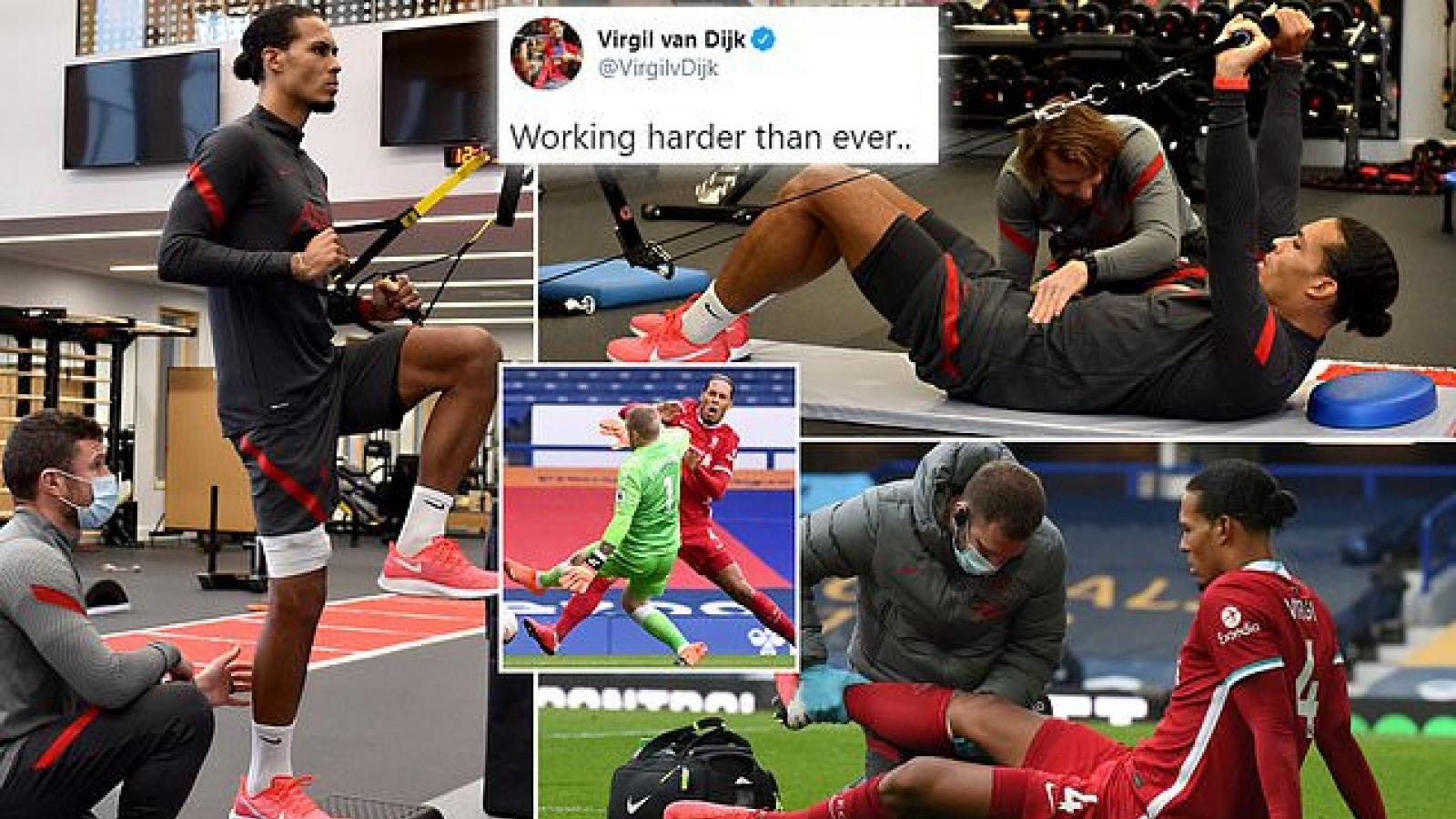 Virgil Van Dijk báo tin mừng cho người hâm mộ Liverpool