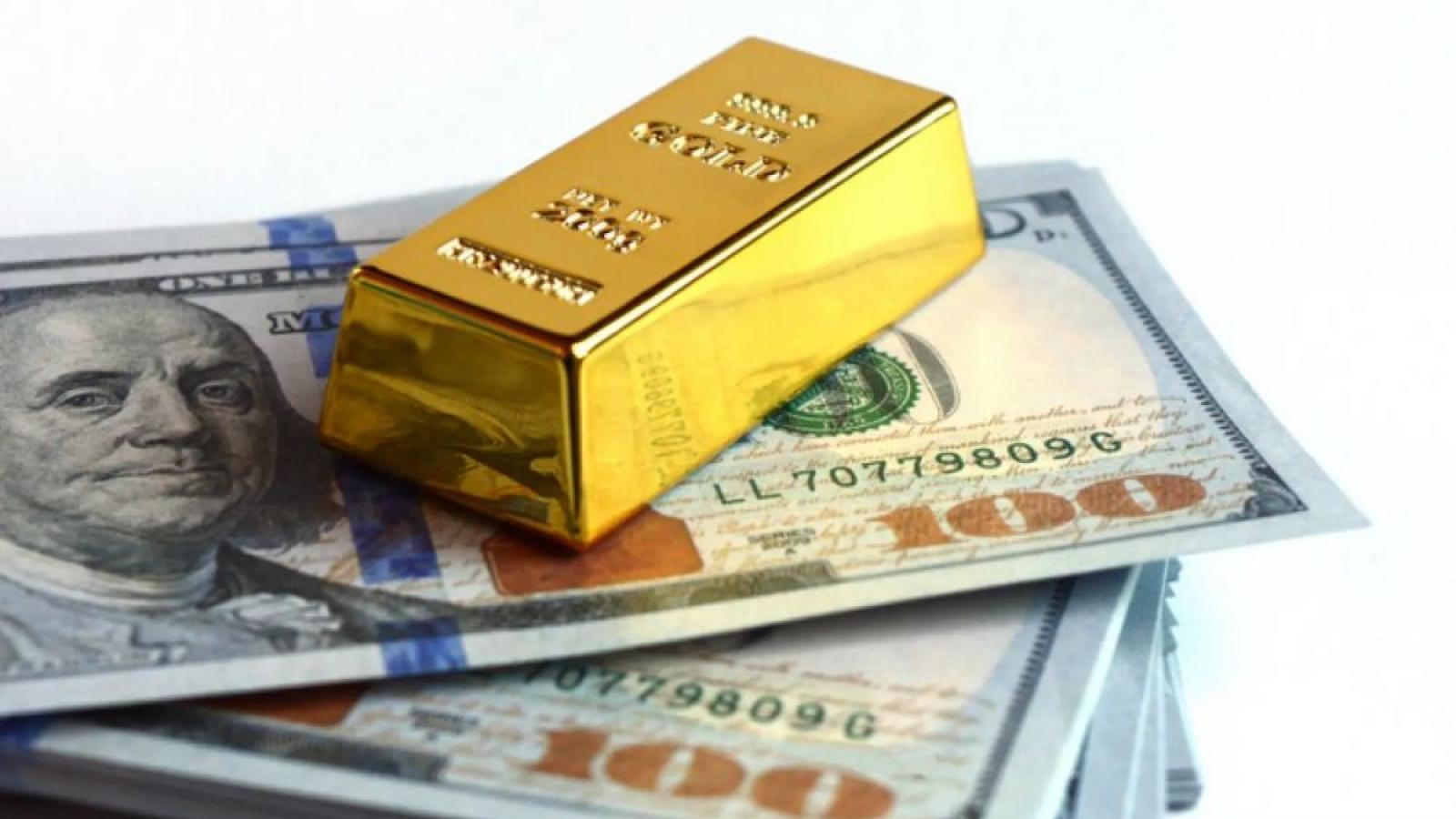 Năm 2020, giá vàng tăng hơn 28%, giá USD giảm nhẹ