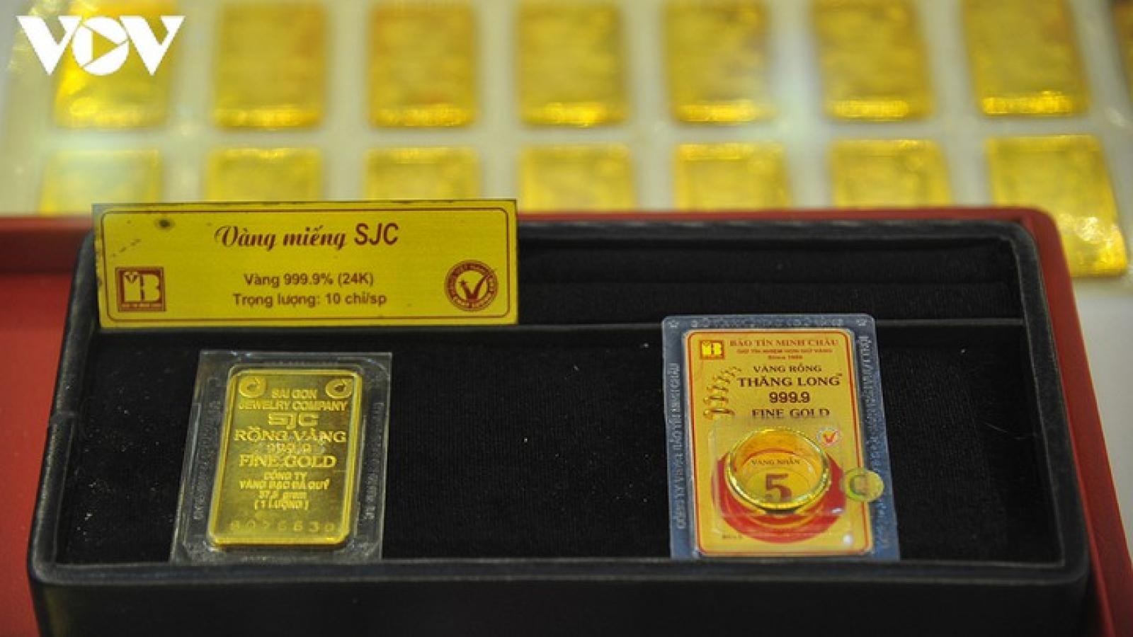 Giá vàng duy trì ở mức trên 55 triệu đồng/lượng