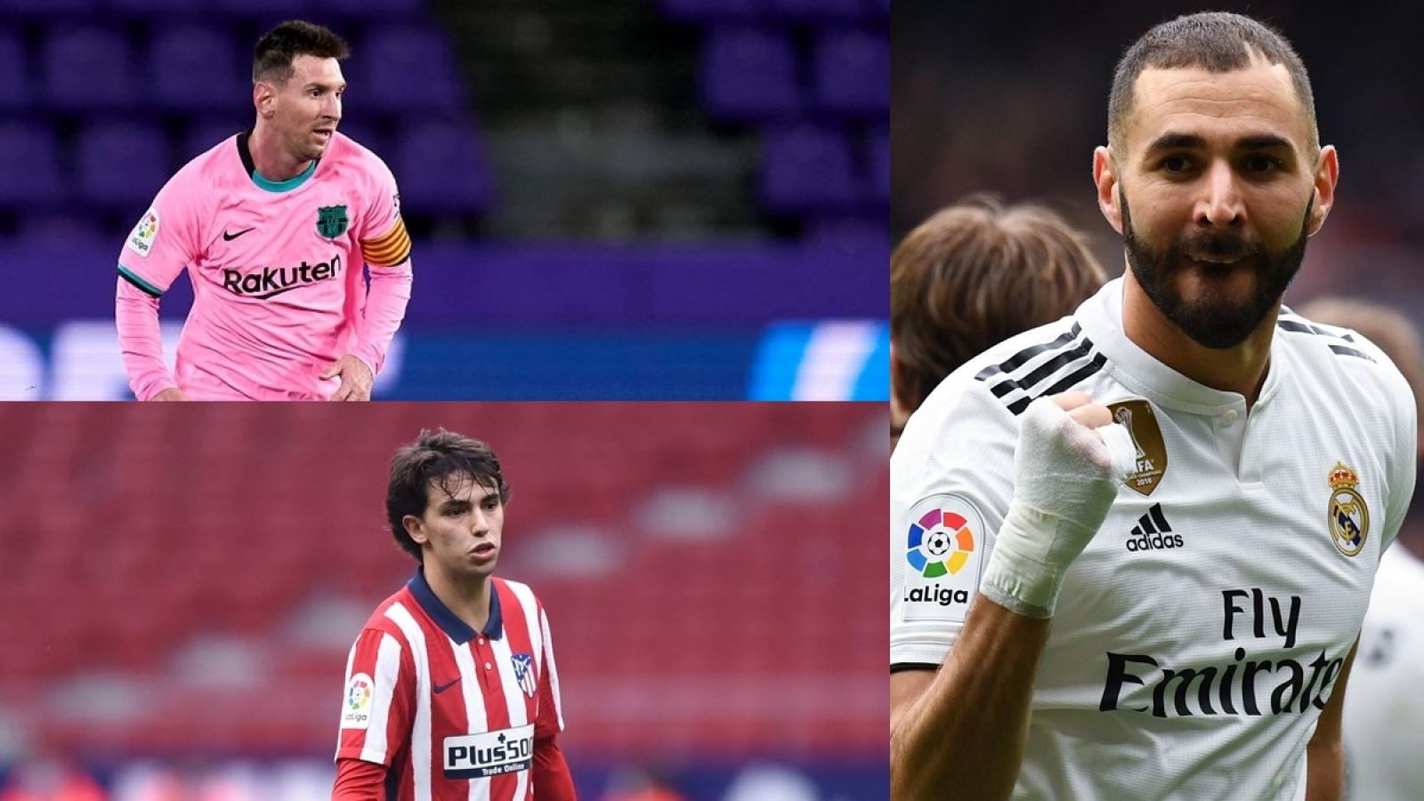 """Cuộc đua """"vua phá lưới"""" La Liga 2020/2021: Bezema vượt qua Messi"""