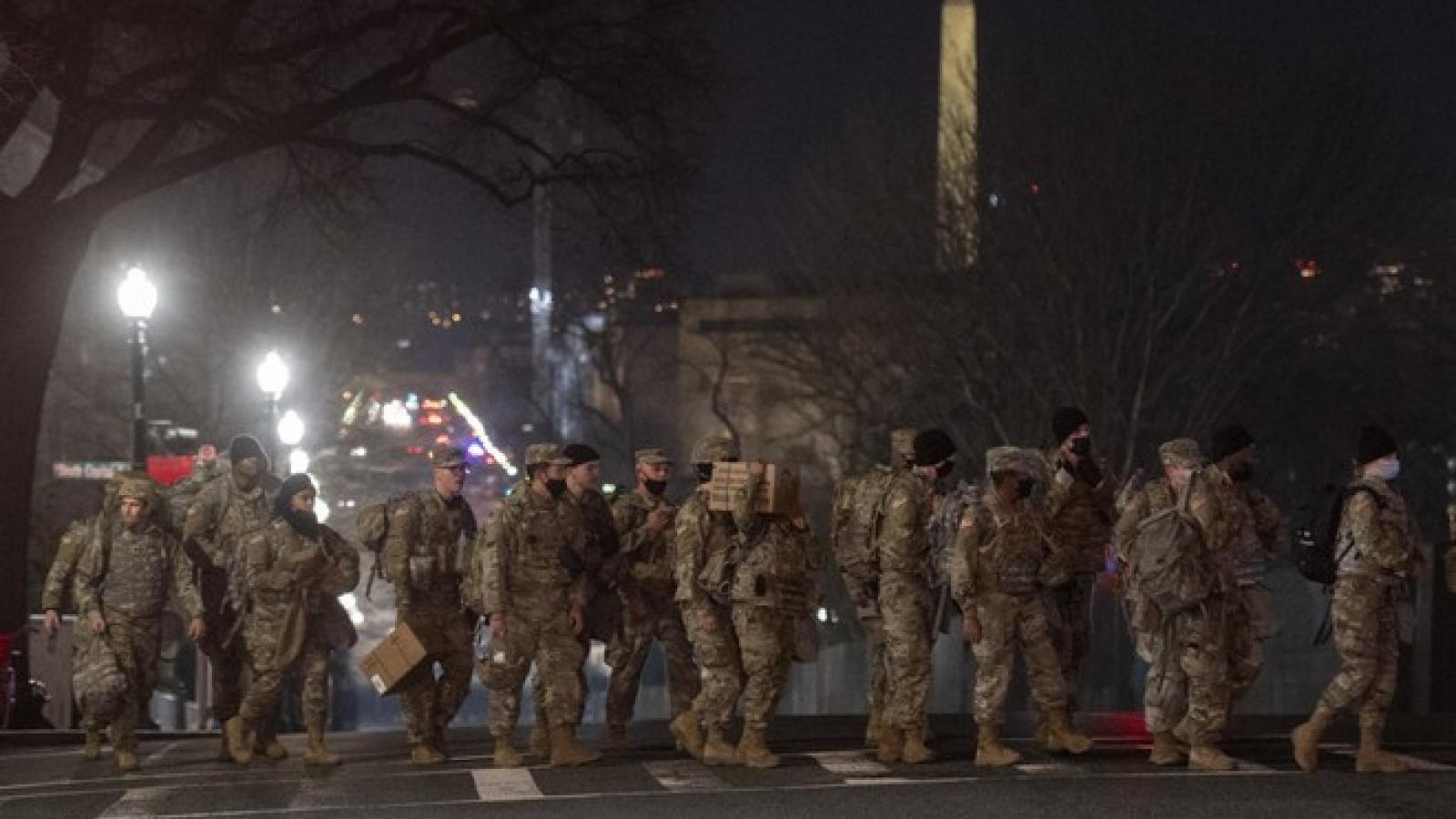 Mỹ huy động khoảng 20.000 vệ binh quốc gia đảm bảo an ninh cho lễ nhậm chức Tổng thống