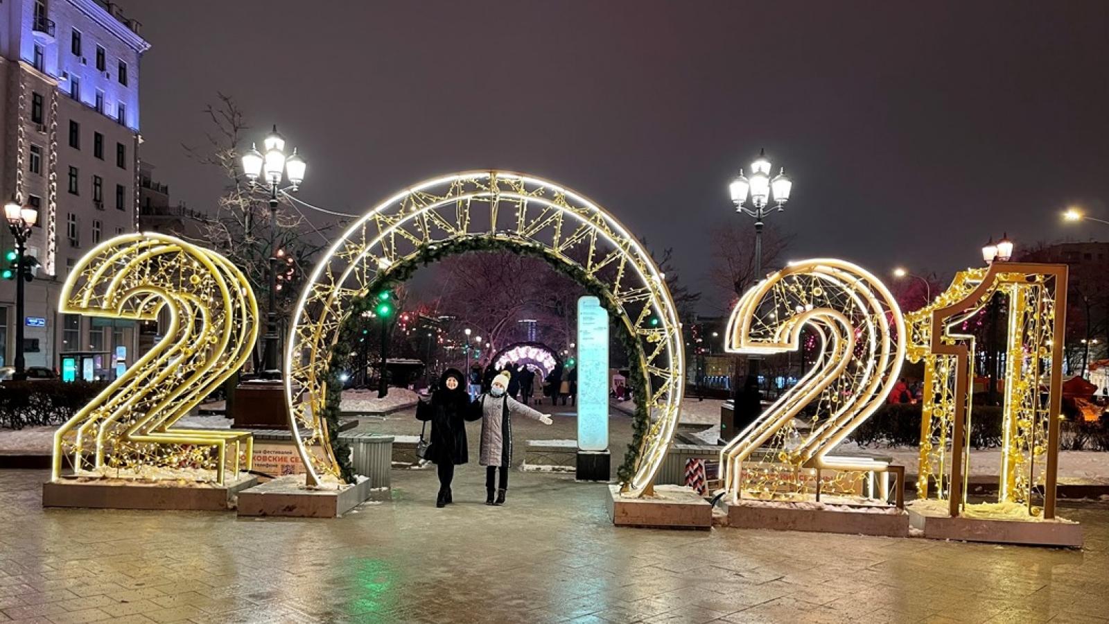 Thủ đô Moscow lung linh sắc màu chào năm mới 2021